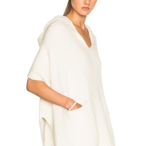 Derek Lam 10 Cosby Cashmere blend hooded poncho